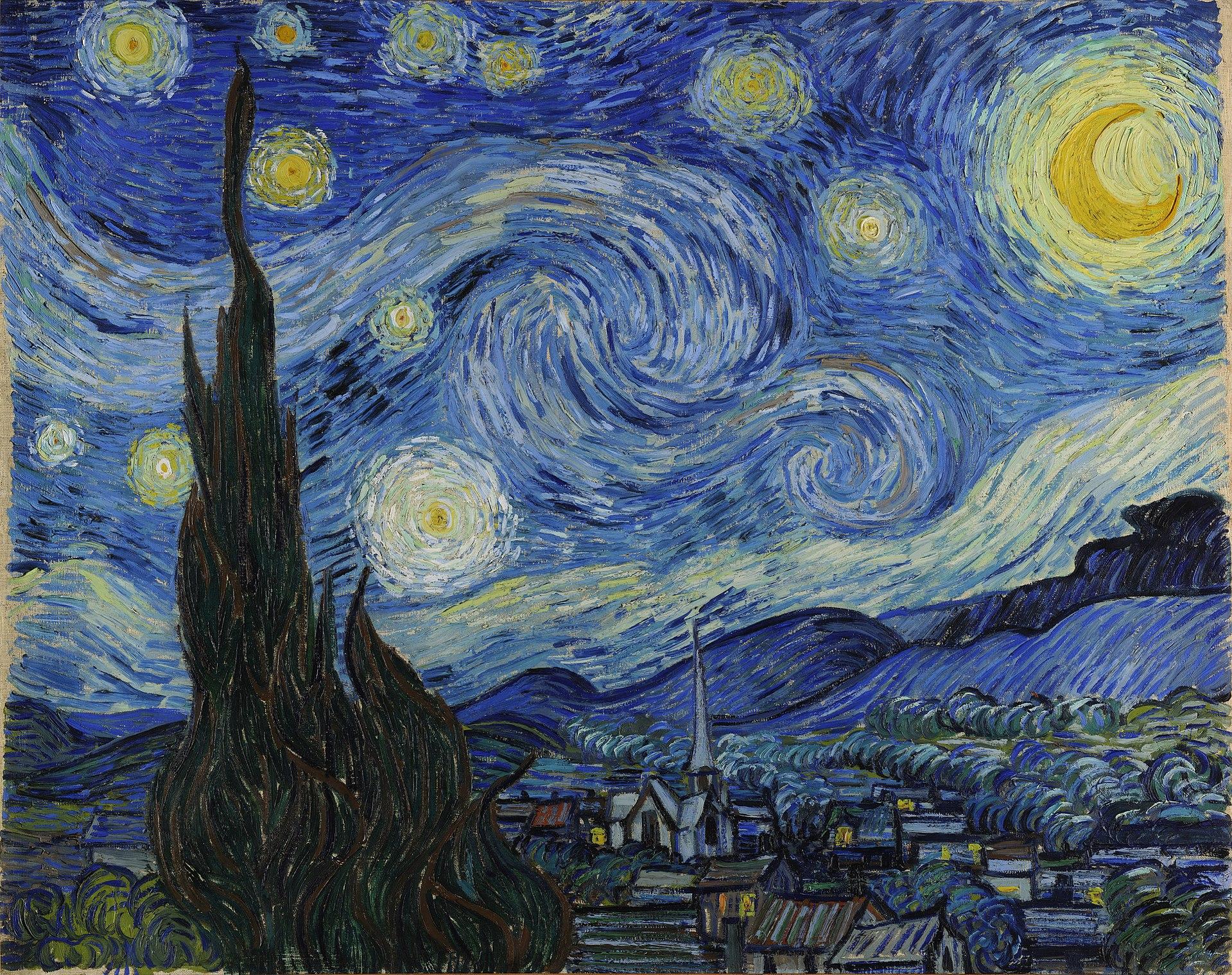 Sterrennacht, Vincent van Gogh, 1889